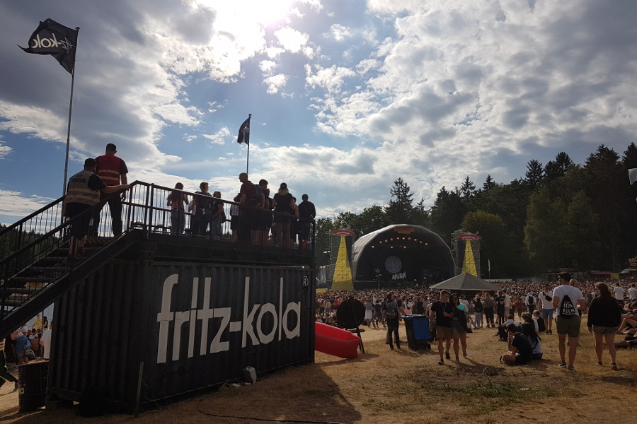 fritz-Kontainer mit Blick auf Mainstage