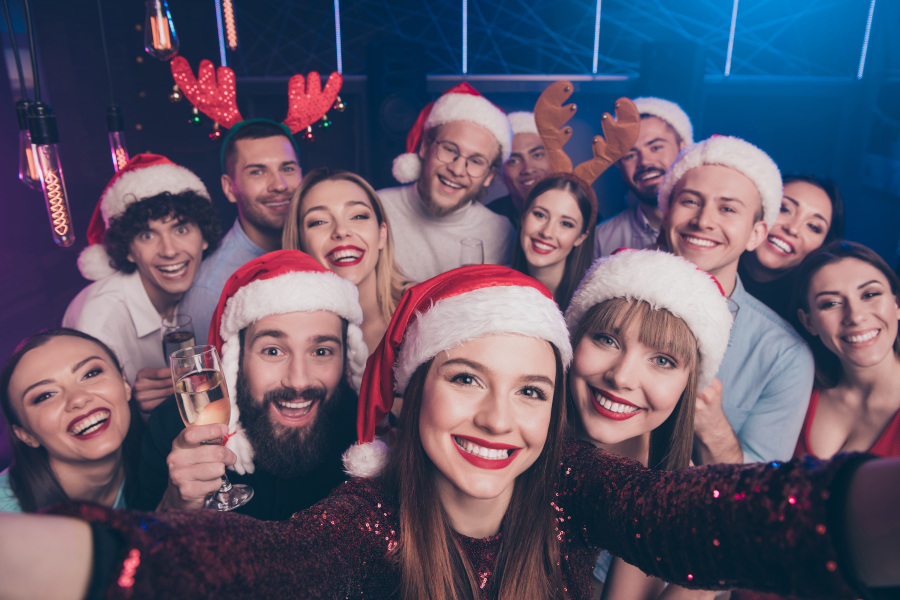 Gruppe Portrait Weihnachten