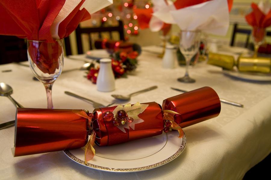 Tischdekoration weihnachtlich