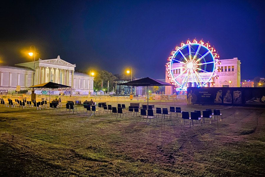 Königsplatz bei Nacht
