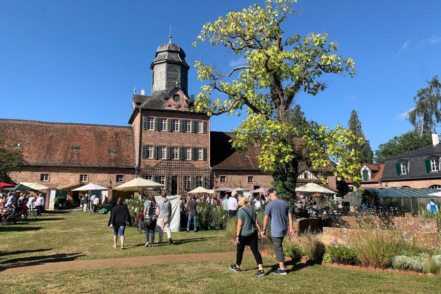 Schloss mit Park und Gästen